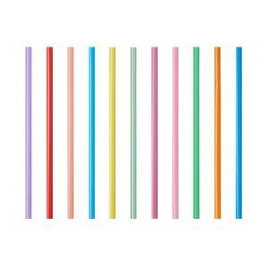135 Smoothie Trinkhalme Ø 10 mm · 20 cm farbig sortiert