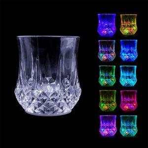 5er Set Trinkbecher Gläser mit LED Licht, LED-Becher für Party, Geburtstag, Nacht, Clubbing, Weihnachten, 6x6x7cm