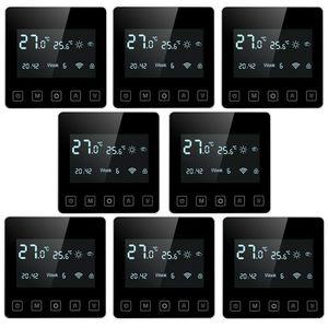 8 x Digital LCD Raumthermostat Thermostat Wandthermostat Unterputz Fußbodenheizung Infrarotheizung Innenthermometer