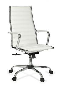 Bürostuhl GENF 1 Bezug Kunst-Leder Schreibtischstuhl Weiß
