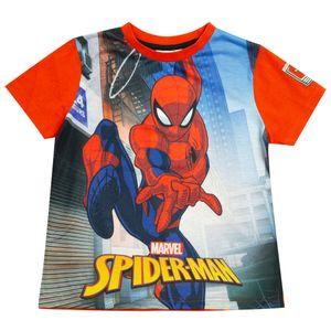 Spider-Man - Swinging Through The City T-Shirt für Jungen PG1060 (116) (Rot/Blau)