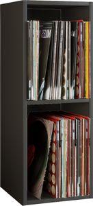 """VCM Schallplatten Regal Archiv LP Möbel Archivierung """"Platto 2fach"""" Schwarz"""