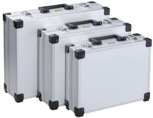 """allit Utensilien Kofferset """"AluPlus Basic"""" 3-teilig silber"""