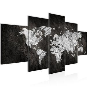 Weltkarte World map BILD :200x100 cm − FOTOGRAFIE AUF VLIES LEINWANDBILD XXL DEKORATION WANDBILDER MODERN KUNSTDRUCK MEHRTEILIG 002951a