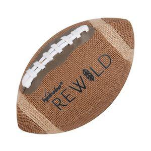 Waboba rugbyball Rewild15,2 cm Jute/Gummi braun