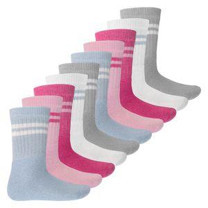 MT Kinder Sport- und Freizeitsocken(10 Paar) Tennissocken für Mädchen und Jungen - Pastell 31-34