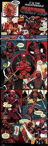 Deadpool Poster Comic - Langbahnposter