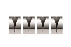 4x Selbstklebende Handtuchhalter Handtuchklemme Geschirrtuchklemme aus rostfreiem Edelstahl geeignet für Bad und Küche