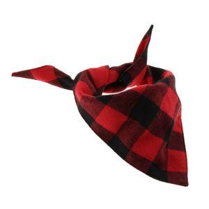 Hundehalstuch Dreieckstuch Hund Dreiecks Halstuch, Rot schwarz s wie beschrieben