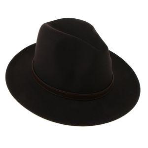 1 Stück Fedora-Hut Farbe Schwarz