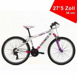 BRERA Combat 27,5 Zoll 21 Gänge 38 cm Rahmengröße Sportfahrrad Sportrad Damen Herren Unisex Mountainbike Fahrrad Weiß