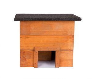Igelhaus Igelhütte komplett Bausatz mit Zwischenwand und wetterfestem Dach Igelhotel für den Garten