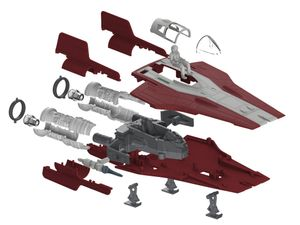 Revell Resistance A-wing Fighter, red - Modellbausatz; 6759