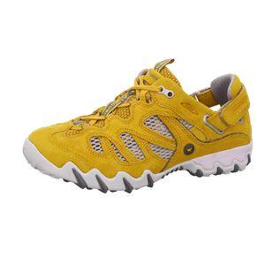 Allrounder By Mephisto Niwa, Sneaker, Gelb/Grau, Damen, Laufschuh, NEU - Damenschuhe Top Trends, Gelb, leder/textil (velour/mesh)