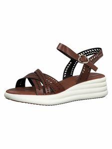 Tamaris Damen Sandale braun 1-1-28056-34 weit Größe: 38 EU