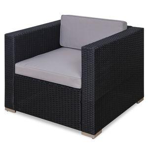 SVITA Rattan-Sessel schwarz für Lugano/ California