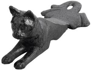 2 Stück Esschert Design Türstopper, Türpuffer Motiv Katze aus Gusseisen, ca. 17 cm x 8 cm x 6,8 cm