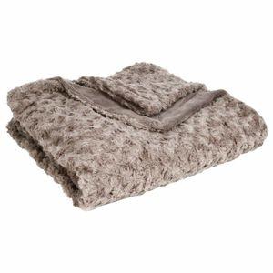 Bettbezug Imitation Fell in schwarz, Universal Kapa für Möbel und Decke in einem - Atmosphera, Farbe:taupe