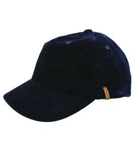 Barts Telli Kinder-Cap coole Schirmmütze mit weichem Samtstoff Navy-Blau, Größe:53