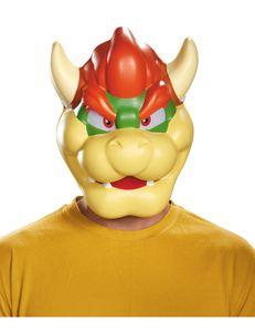 Nintendo Bowser Maske Lizenzware beige-rot-grün