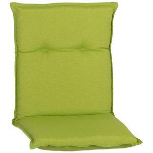 Gartenmöbel Auflage Piemont - Polsterauflage mit Halteband & Bindebändern, Größe:4x Niedriglehnerauflage, Dessin:Apfelgrün