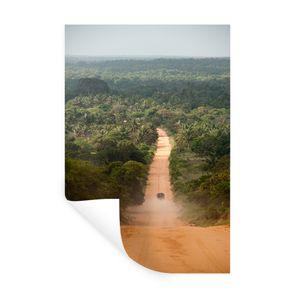 Wandaufkleber - Straße durch den Dschungel Afrikanischer Dschungel in Mosambik - 20x30 cm - Repositionierbar