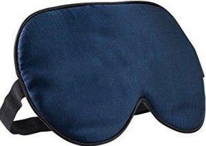 Schlafmaske - 100% Reine Seide - dunkelblau