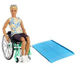Barbie Fashionistas Ken Puppe (blond) mit Rollstuhl, Anziehpuppe
