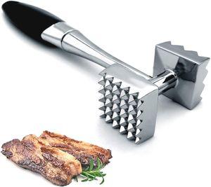 Doppelseitiger Fleischklopfer Tenderiser Hammer Steak Mallet BBQ Tool aus Edelstahl LGZ201012113