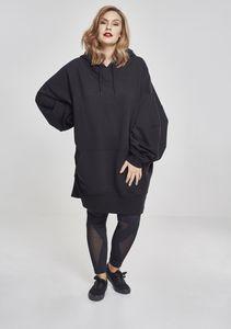 Urban Classics Sweater Damen LADIES LONG OVERSIZE HOODY TB2233 Schwarz Black, Größe:M