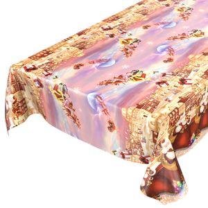 Weihnachten Geschenke 240x140cm Wachstuch Tischdecke