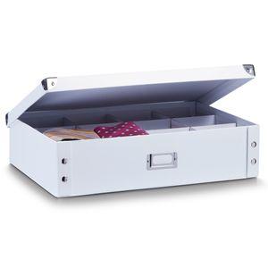 Zeller Krawatten-/Gürtelbox, Pappe, weiß 44,5x31,5x11