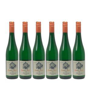 Weißwein Mosel Chardonnay Weingut Markus Burg Qualitätswein feinherb und vegan (6x0,75l)