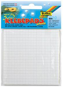 folia 3D-Klebepads 5 x 5 mm weiß sortiert 2 mm und 3 mm 800 Stück