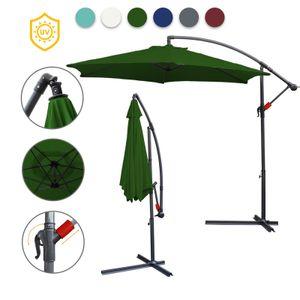 EINFEBEN 3.5m Sonnenschirm Ampelschirm Balkonschirm Marktschirm UV40+ Gartenschirm,Gruen