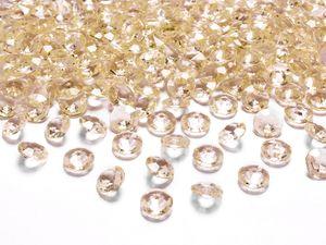 Deko Acryl Diamanten, 12mm, gold-gelb; 100 Stück