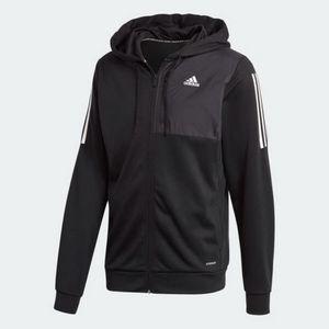 Adidas M Mh Aero Fz Black Black L