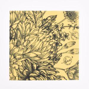 Little bee FreshBienenwachstuch Blumenwiesen-Motiv verschiedene Größen, Größe:L 35x35cm