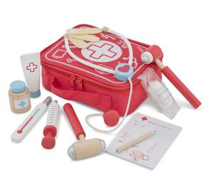 New Classic Toys arztkoffer Junior 22 x 18 cm rot 11-teilig