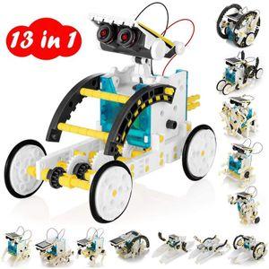 13 in 1 Solar Roboter Bausatz Set Kinder,Spielzeug Konstruktion Bauset, Educational Lernspielzeug mit Solar Wissenschaft Experimentierkasten Science Kit für Kinder über 8 Jahren