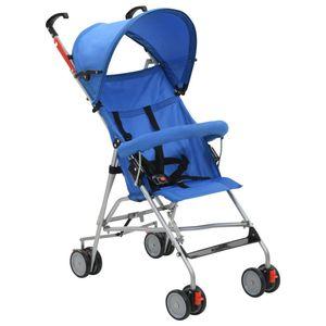 Klappbarer Buggy Kinderwagen Kombikinderwagen Blau Stahl