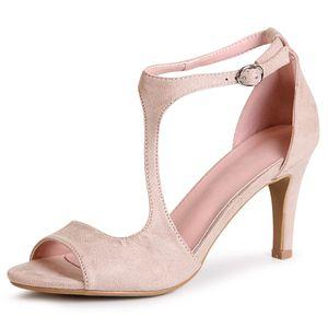 topschuhe24 1890 Damen Riemchen Sandaletten Velours, Farbe:Beige, Größe:39 EU