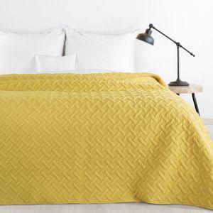 Gesteppte Tagesdecke Alara senf gelb 170x210 cm