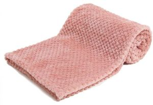 Soft Touch wickeltuch Waffle 75 x 100 cm Polyester rosa