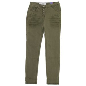 18478 Cecil, New York,  Damen Jeans Hose, Gabardine Stretch, olivegreen, W 26 L 32