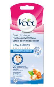 Veet Kaltwachsstreifen Gesicht sensible Haut 20 Stück