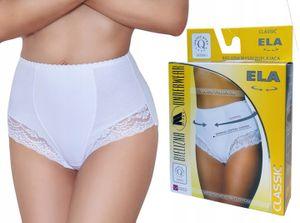 Damen unterwasche Hohe Taille MITEX ELA Shapewear Bauchweg Slip Bodyforming Miederslip WEISS M