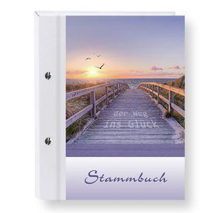 Stammbuch der Familie Glücksweg bunt Stammbücher A5 Familienstammbuch Trauung Stammbaum Maritim Strand Hochzeit Meer