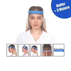Visier Gesichtsschutz 180 Grad verstellbar - SCHWARZ - Klappvisier aus robustem Kunststoff – Face Shield – Schutzschild Schutzvisier Augenschutz Schutzmaske