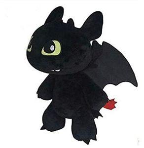 Baby Plüsch Drache in schwarz mit Saugknopf Superweicher Drache das ideale Geschenk zu Weihnachten Kuschelliges Stofftier